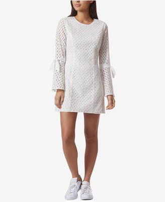 Avec Les Filles Cotton Eyelet Bell-Sleeve Mini Dress $118 thestylecure.com