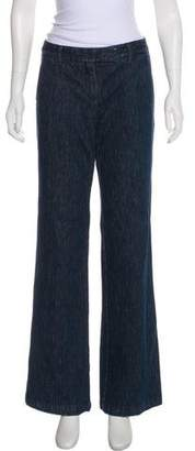 Theory Mid-Rise Wide-Leg Jeans