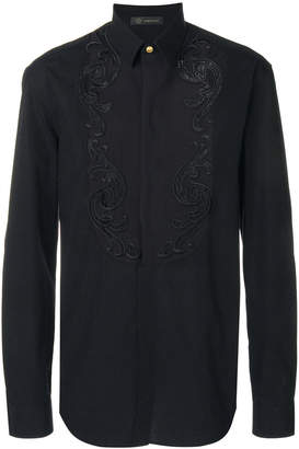 Versace Baroque embroidered shirt