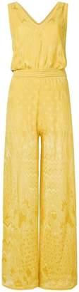 M Missoni embroidered sleeveless jumpsuit