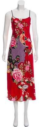 Natori Floral Midi Dress