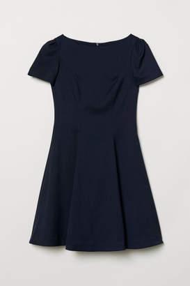 H&M Puff-sleeved Dress - Blue