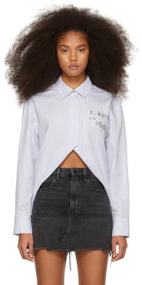 Alexander Wang Blue and White Open Front Shirt