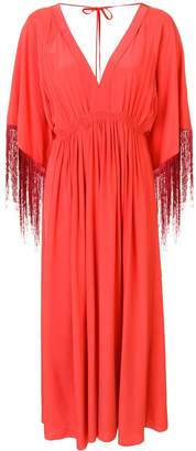 Forte Forte V-neck fringed dress