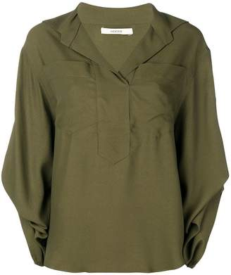 Odeeh oversized V-neck shirt