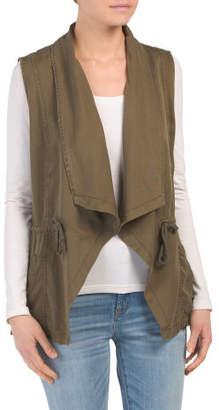 Drape Front Tencel Vest