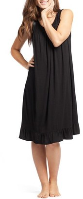 Women's Savi Mom 'The Ruffled' Sleeveless Maternity/nursing Nightgown $49 thestylecure.com