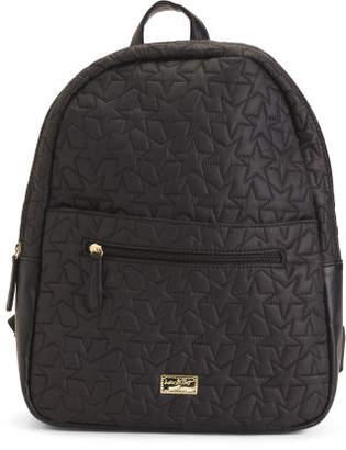 Hooded Faux Fur Backpack