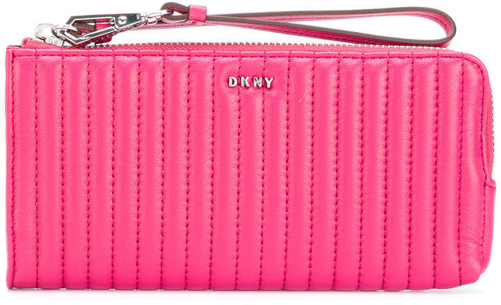 DKNY quilted pinstripe wallet