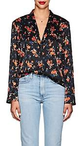 A.L.C. Women's Leomie Floral Stretch-Silk Blouse - Navy