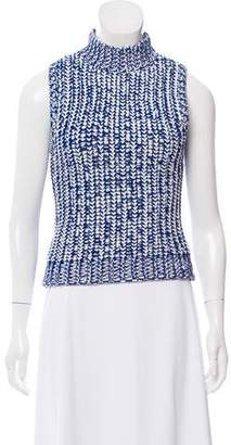 Alice + Olivia Sleeveless Mock Neck Sweater