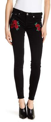 True Religion Rose Embroidered Super-Skinny Jeans