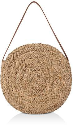Whistles Etty Large Straw Circle Shoulder Bag