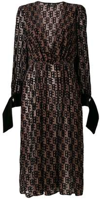 Elisabetta Franchi printed flared dress