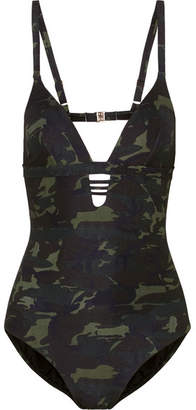 Amazon Camouflage-print Swimsuit - Army green