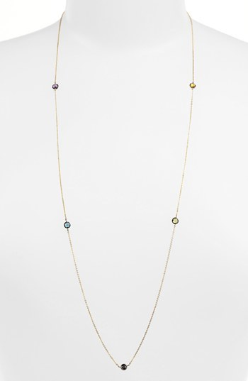 Nordstrom Bony Levy 'Color by the Inch' Long Necklace Exclusive)