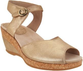 Dansko Leather or Suede Wedge Sandals - Charlotte