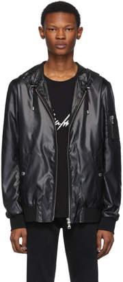 Balmain Black Nylon Hooded Jacket