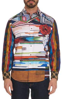 Robert Graham Men's Nacho Strong Ikat-Print Sport Shirt
