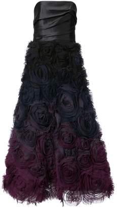 Marchesa rose appliqué gown