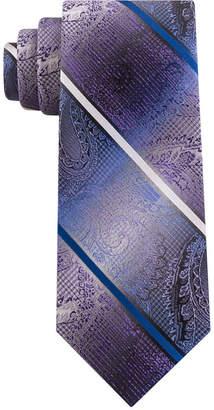 Van Heusen Men Harvey Paisley Stripe Tie