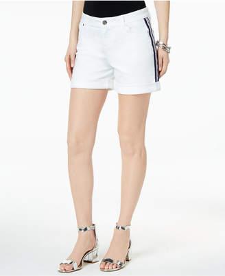 "INC International Concepts I.n.c. Side-Stripe 5"" Denim Shorts, Created for Macy's"