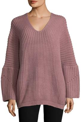 Allison Collection Women's Slouchy V-Neck Sweater