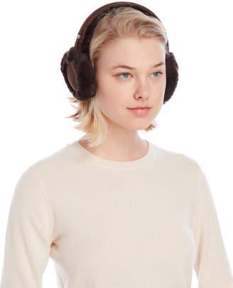 UGG Chocolate Wired Shearling Ear Muffs