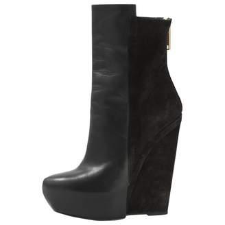 Gareth Pugh Black Leather Boots