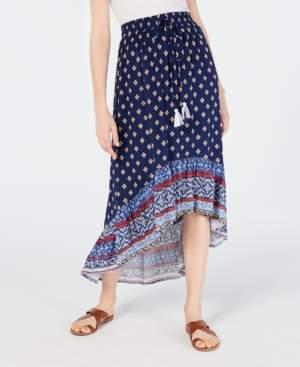Ultra Flirt Juniors' Printed High-Low Skirt
