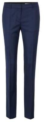 BOSS Hugo Slim-leg pants in a melange stretch-wool 12 Open Blue