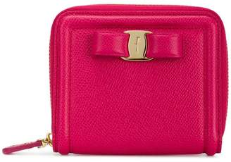 Salvatore Ferragamo Vara bow zip-around wallet