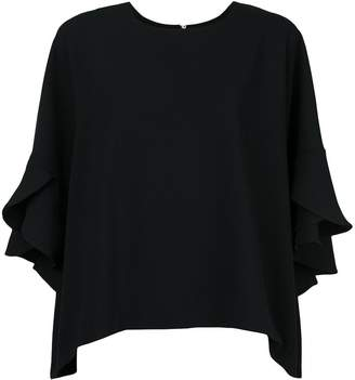 IRO boxy ruffle sleeve T-shirt
