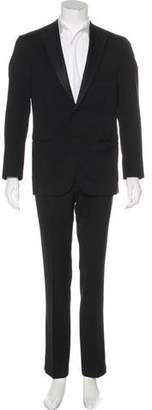 Isaia Aquaspider Wool Tuxedo Blazer