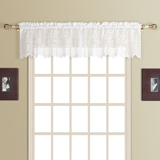 Co United Curtain Rochelle Lace Window Valance - 56'' x 16''