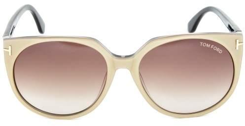 Tom Ford FT0370 Agatha Round Sunglasses, 56mm