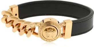 Versace Medusa Metal & Leather Bracelet