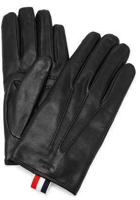 Thom Browne Cashmere-Lined Leather Gloves