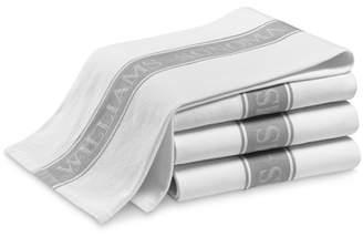 Williams-Sonoma Williams Sonoma Classic Logo Towels, Set of 4, Drizzle Grey