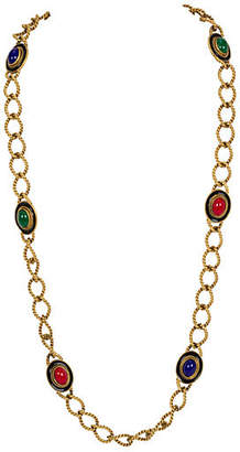 One Kings Lane Vintage YSL Braided Multicolor Stones Necklace