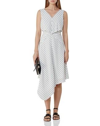 REISS Rhoni Striped Midi Dress $330 thestylecure.com