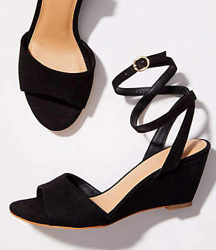 LOFT Ankle Strap Wedge Sandals