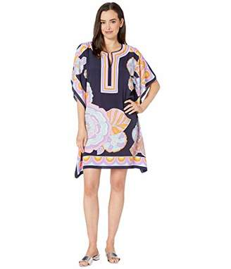 Trina Turk Women's Theodora Short Sleeve Caftan Style Dress