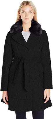 Betsey Johnson Women's Wool Skirted Coat