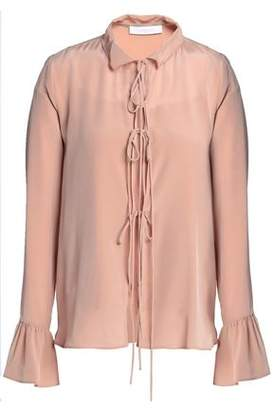 See by Chloe Bow-detailed Silk Crepe De Chine Blouse