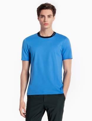 Calvin Klein cotton knit piped collar t-shirt