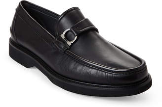 Salvatore Ferragamo Black Deroy Leather Moccasins