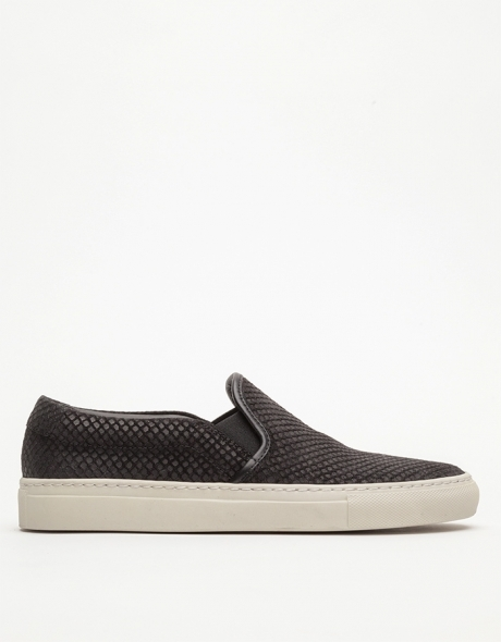 Slip On Patterned Suede