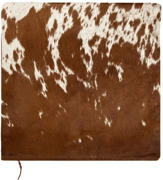 MAHI Leather - Brown and White Natural Cowhide Cushion Cover