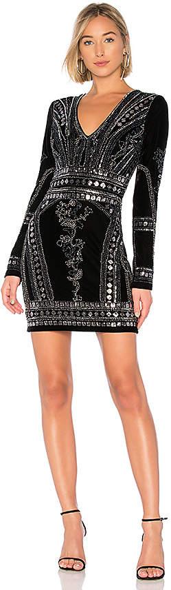 Stretch Velvet Embellished Dress